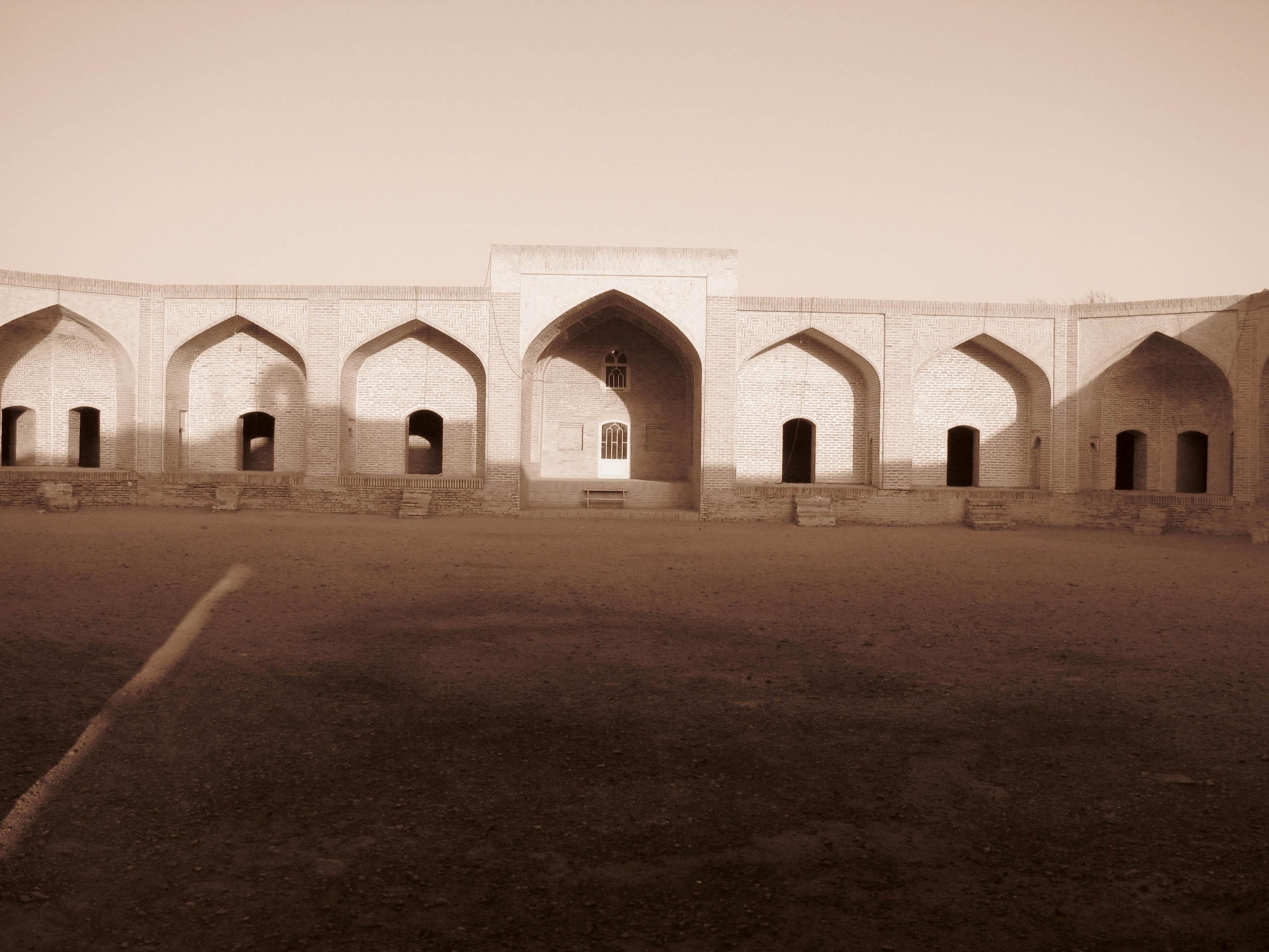 Karvansaray in middle of Desert