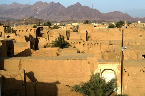 Villages in Iran desert